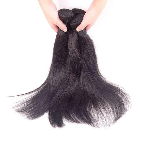 Silky Straight Human Hair (4 Bundles) Full Head
