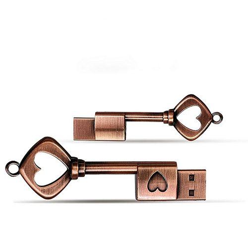 MicroDrive 8GB USB 2.0 Copper Love Key U Disk