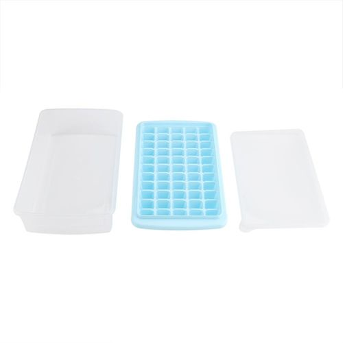 55 Grids PP Plastic Ice Cube Mold DIY Creative Ice Cube Mold With Lid For Conveniently Storing The Ice Cubes