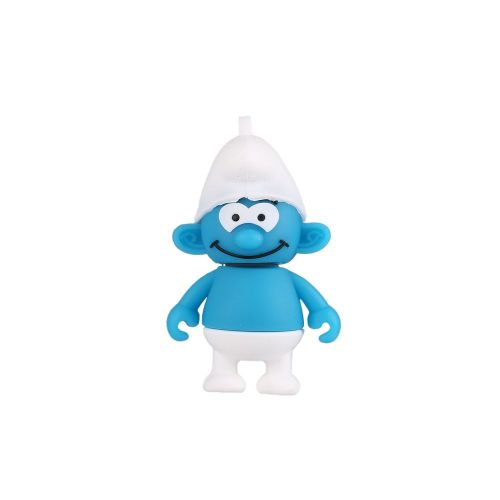 Usb2.0 Cartoon Smurf Rubber U Disk 8gb/16gb/32gb/64gb/128gb/256gb Blue