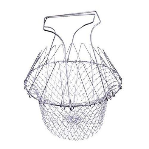 Foldable Multi-Purpose Steam Chef Basket Strainer - Silver