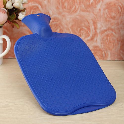 2PCS Large Thick Rubber Hot Water Bottle Bag Warm Relaxing Heat Cold Therapy 2 Liters