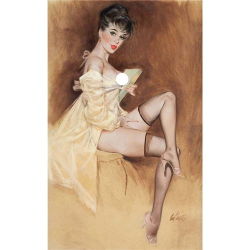 Pin-Up Girl 40X60cm Time For Bed Fritz Willis Wall Picture