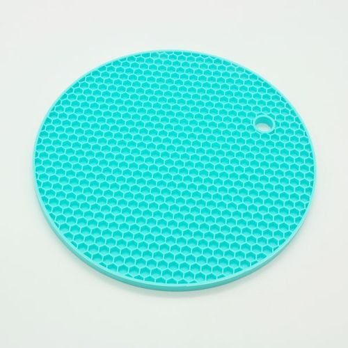 18cm Round Heat Resistant Silicone Mat Drink Cup Coasters Non Slip Pot Holder Table Placemat Kitchen Accessories HIS