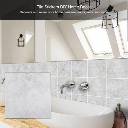 10pcs/set PVC Waterproof Wall Tile Sticker Self-Adhesive Wallpaper For Bathroom Living Room Walls DIY Home Decor