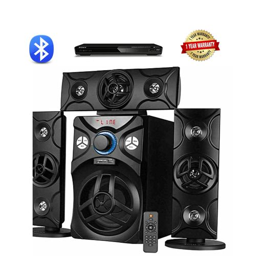 HOME THEATRE SYSTEM WITH BLUETOOTH + DVD PLAYER BLACK