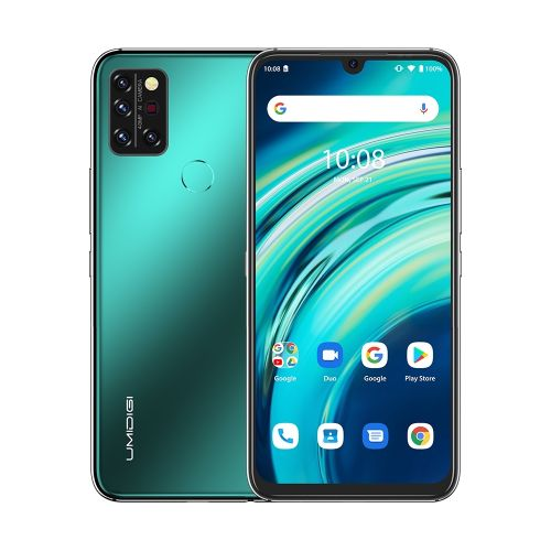 A9 Pro Non-contact 4GB+64GB 4150mAh Battery 6.3 Inch Android 10 4G OTG Smartphone - Green