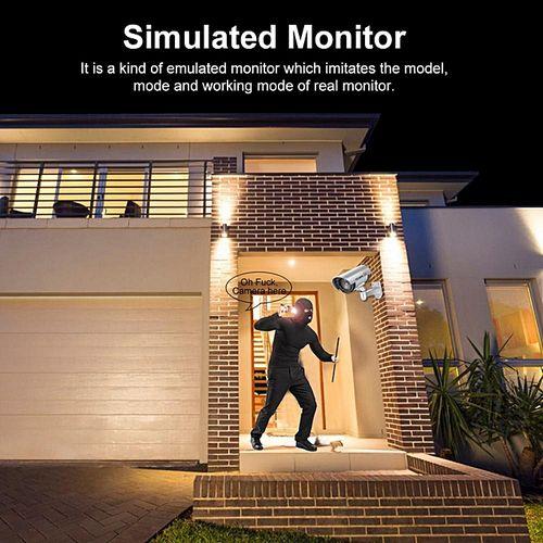 Non-intervention Dummy CCTV Kamera Keamanan Dengan Simulasi Merah LED Lampu Pendar Perak