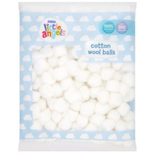 Asda Cotton Wool Balls, 100% Pure Cotton, 200 Cotton Balls
