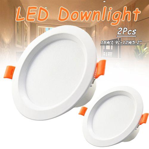 2pcs 18W 3000K LED DOWNLIGHT KIT Spotlight LampDecoration 7.9in