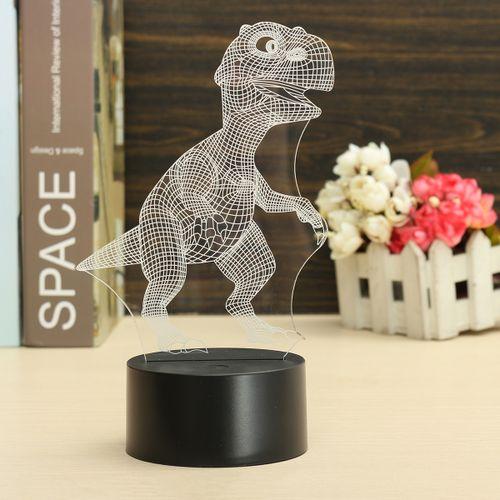 3D Dinosaur USB 7 Color Change LED Night Light Desk Table Lamp Christmas