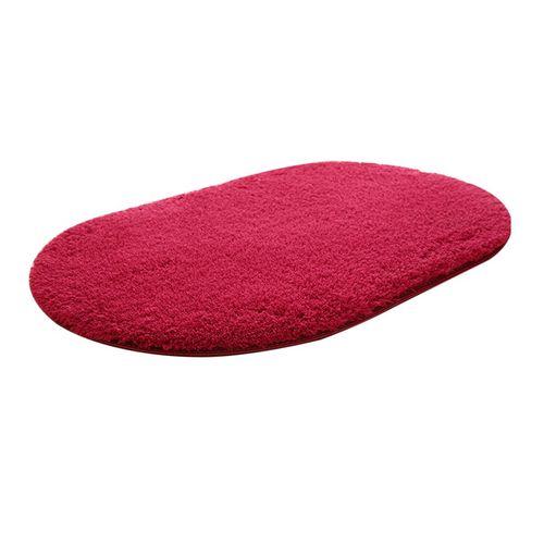 Anti-lip Home Bathroom Bedroom Kitchen Floormat Carpet Solid Color Rug Carpet*Wine Red