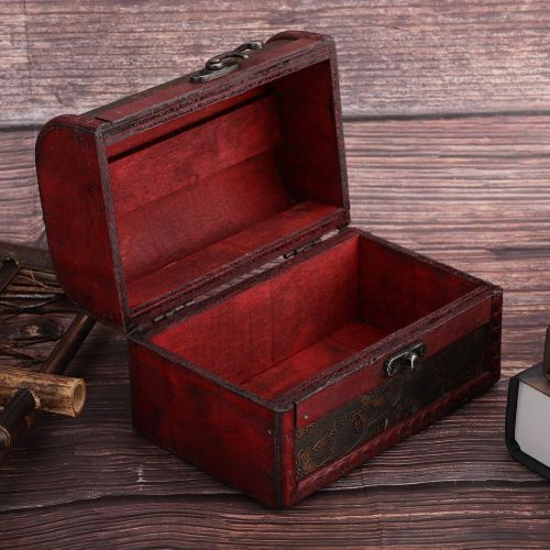 Vintage Wooden Jewelry Necklace Earrings Storage Box Gift Furnishing Articles Jewelry Organizer