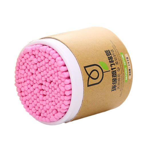 200Pcs Cotton Swabs Disposable Double Tips Paper Stick Green