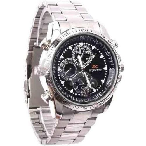32GB Camera Chain Wristwatch With Video Recorder - Silver