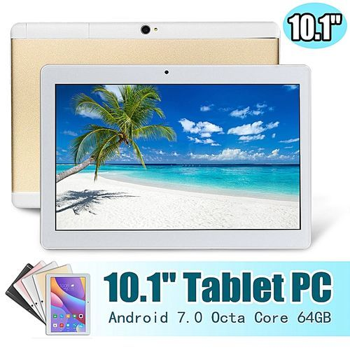 64GB+4G Android 7.0 Tablet PC Octa Core 2 SIM 4G 10.1'' Hot