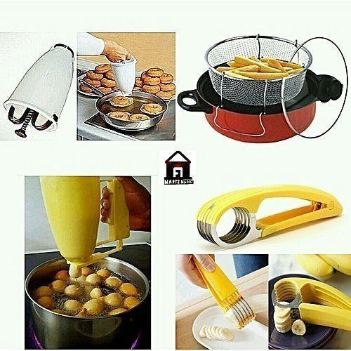 Doughnut Maker + Puff-Puff Maker + Plantain Cutter + Deep Fryer
