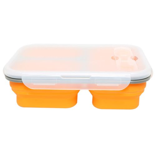 Foldable Silicone Collapsible Bento Box Lunch Box Meal Microwave Food