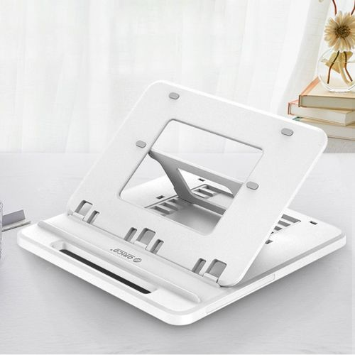OR Durable Laptop Stand Increased Base Foldable Rotation Mobile Phone Holder White