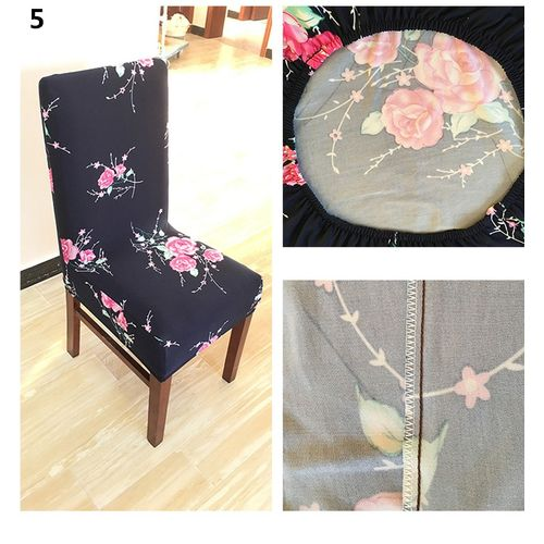 Removable Elastic Stretch Slipcovers Dining Room Chair Seat Cover Home Decor