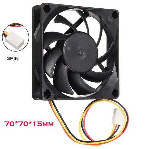 100% New Quiet 7cm/70mm/70x70x15mm 12V Computer/PC/CPU Silent Cooling Case Fan