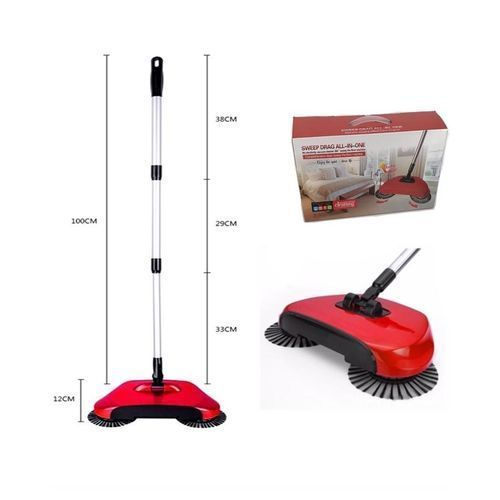 Non-Electric Sweep Vacuum Drag All-In-One 360 Rotation