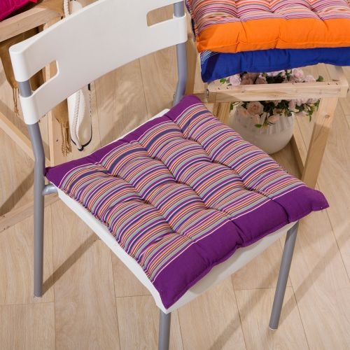 Seat Cushion Comfort Coarse Cloth Cotton Stripe Chic Pads Room Soft Chair Office