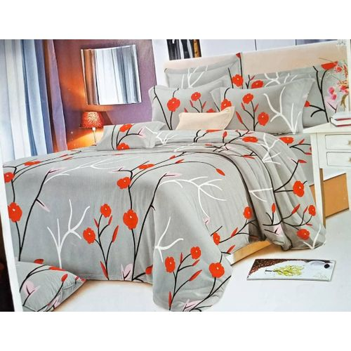 Grey Red Beddings - Bedsheets, Pillow Cases Or Duvet Sets