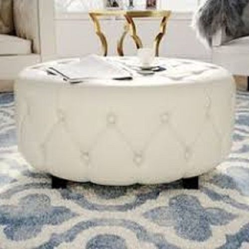 Lucky Leather Tuffed Ottoman (DELIVERY IN LAGOS ONLY)