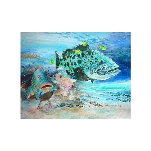 Fish Diamond Embroidery Kit Cross Stitch Home Decoration