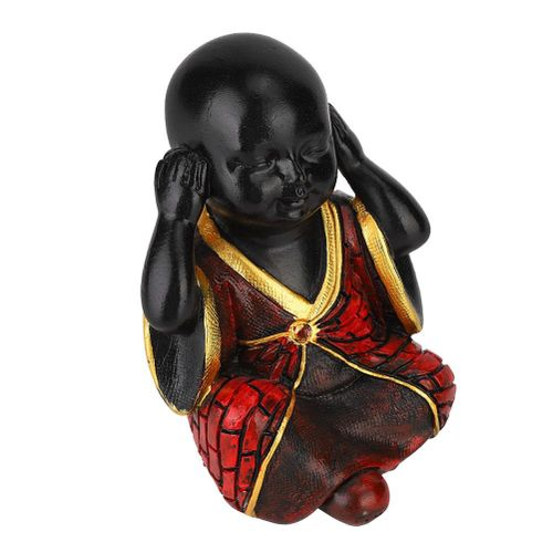 Monk Figurine Statue Buddha Sculpture Home Office Ornament Resin Craft Gift