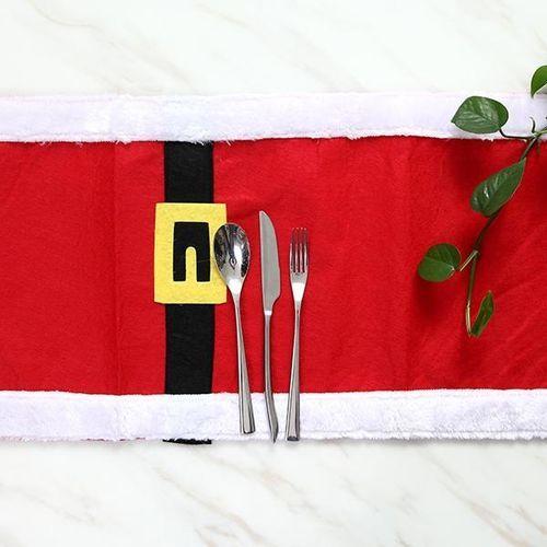 180X35CM Christmas Table Flag Christmas Table Towel Gold Belt Buckle