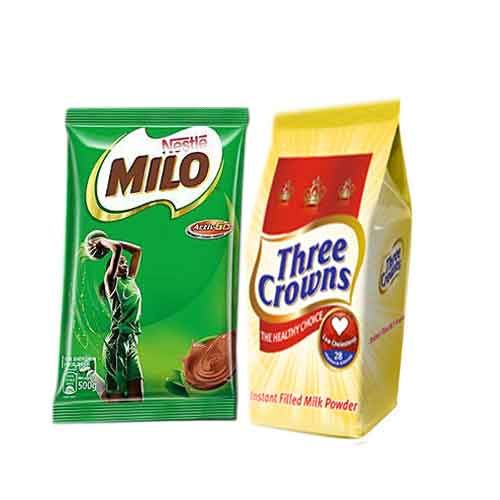 Milo 500g And Three Crown 350g Refill