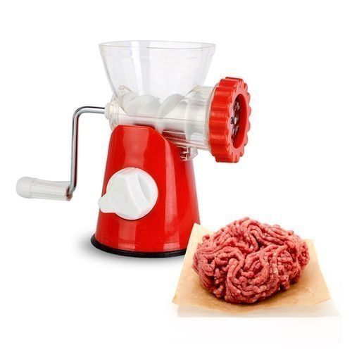 3-In-1 Hand Crank Manual Meat Grinder And Vegetable Grinder/Mincer With Stainless Steel Blades-