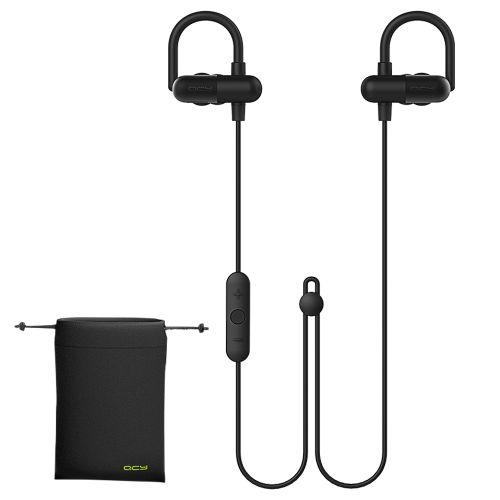 Wireless Bluetooth 4.1 Noise Cancelling In-Ear Ear-Hook Stereo Sport Running Earphone Earbuds Headphone With Storage Pouch For IPhone 7 6s...