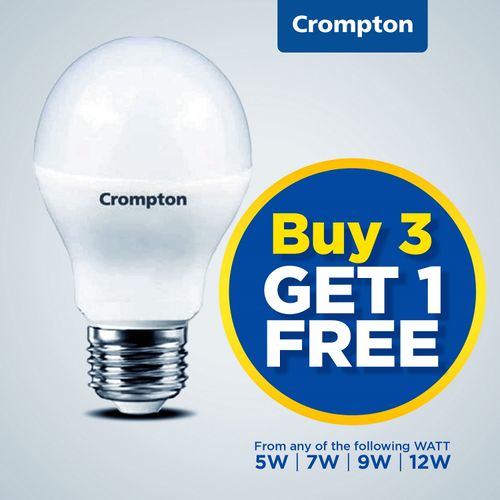 Buy 3 Get 1 Free - 9W LED Screw Bulb (Made In India)