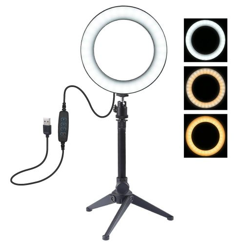 Ring Light With Tripod Stand, Yeldou Dimmable Desktop LED M
