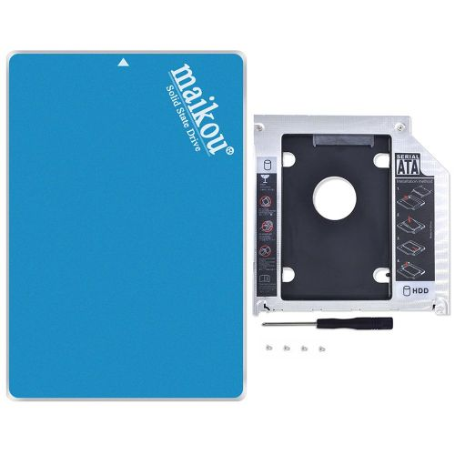 """2.5 60G 120G 240G 360G 480G MLC Solid State Hard Disk With Support Bracket"""" Blue"""