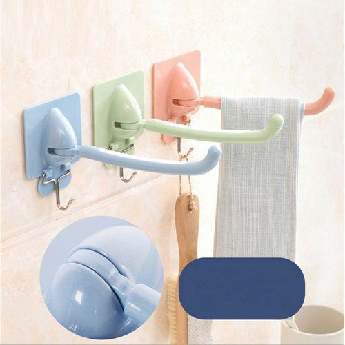 Plastic Wall Mount Self-adhesive Bathroom Towel Holder