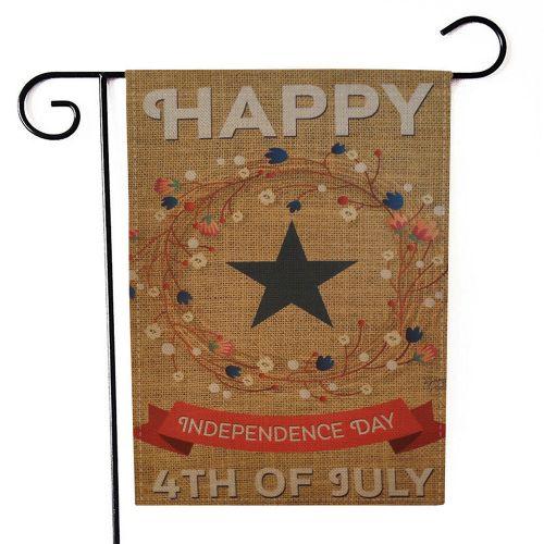 Xiuxingzi_Dtrestocy Happy Independence Day Garden Flag Indoor Outdoor Home Decor Printing Flag