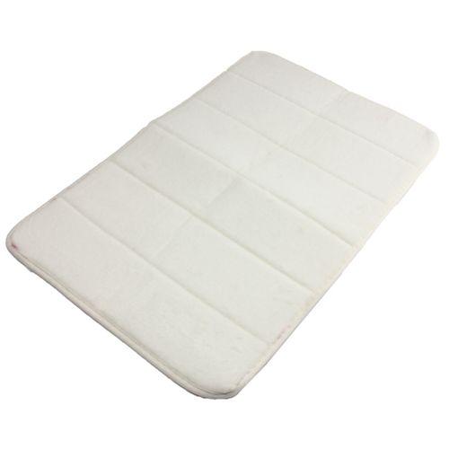 40cmx60cm Memory Foam Rug Mat Bathroom Bedroom Non-slip Mats Shower Carpet Creamy-white