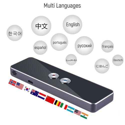 Portable Lightweight Translator 30+ Languages 2-way Instant Translate High Recognition Ability Long-time Use Voice Translation#3 DJLAB