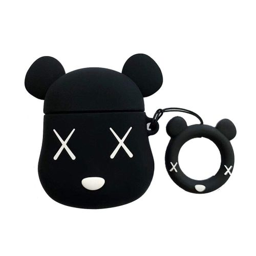 3D Cute Silicone Airpods Charging Dock Case Cover Violent Bear