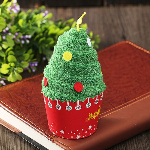 1Pcs Christmas Cakes Towels Christmas Dolls Gift Small Water Absorption Snowman Christmas Pendant