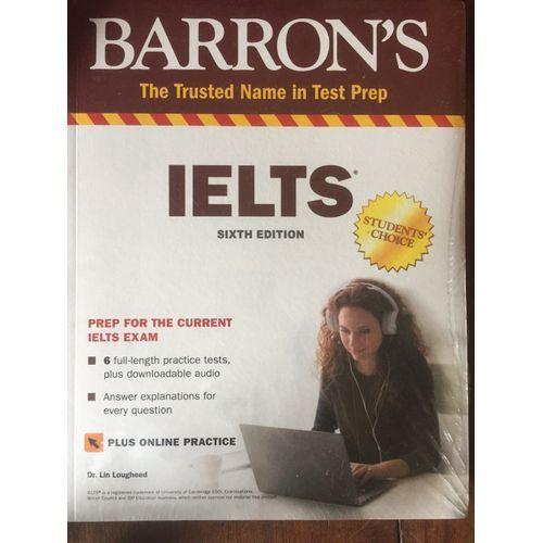 BARRON'S IELTS, PLUS ONLINE PRACTICE, 6th Edition(Latest Edition)