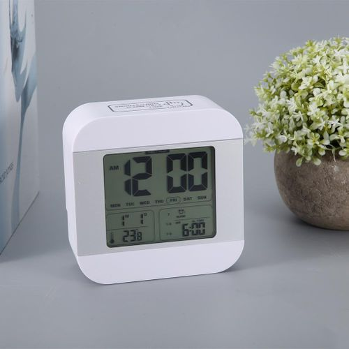 Digital Alarm Clock LCD Display Smart Snooze Soft Nightlight Bedside Clocks Radio Alarm Clock