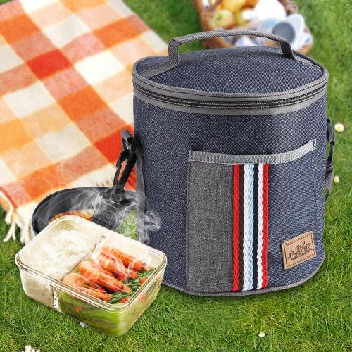 Portable Insulated Thermal Cooler Lunch Storage Box Bag Case With Tote Picnic 185 X 230mm