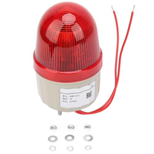 220VAC Mini Beacon Warning Signal Strobe Light Lamp Spiral Fixed 75mm Diameter
