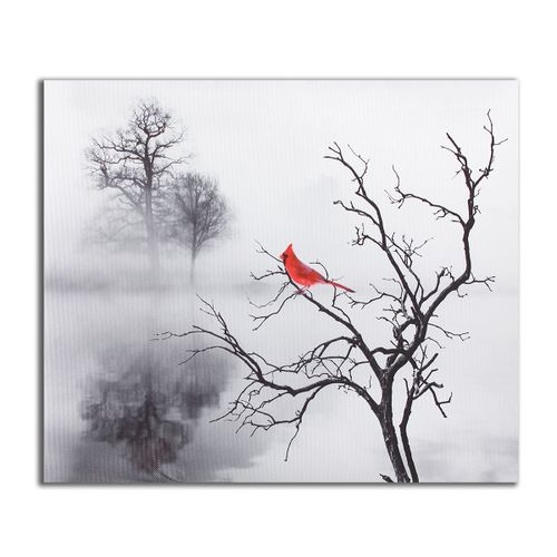 Red Bird Tree Modern Canvas Print Art Painting Home Wall Picture Decor Unframed