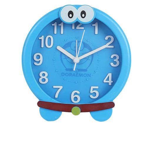 New Home Portable Cute Round Table KittyAlarm Clock Children Room Gift - Blue